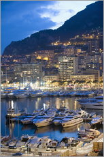 Wall sticker  Harbour in the Port of Monaco, Principality of Monaco, Cote d'Azur, Mediterranean, Europe - Christian Kober