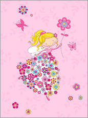 Wall sticker Flower Princess