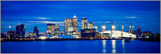 Gallery print  Panoramic view of London skyline - Ian Egner