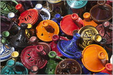 Gallery print  Colourful tajines, Essaouira, Atlantic coast, Morocco, North Africa, Africa - Stuart Black