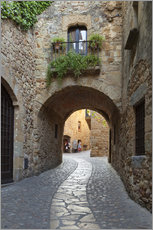 Wall Stickers  Alley in Pals, Catalonia - Stuart Black