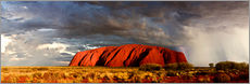 Gallery print  Uluru (Ayers Rock), Uluru-Kata Tjuta National Park, UNESCO World Heritage Site, Northern Territory, - Giles Bracher