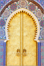 Gallery Print  Royal Palace Door, Fez - Douglas Pearson