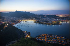 Gallery print  View from the Sugarloaf at sunset, Rio de Janeiro, Brazil, South America - Michael Runkel