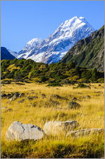 Gallery print  Mount Cook in New Zealand - Michael Runkel