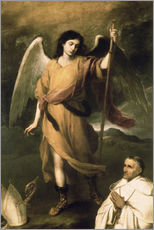 Wall Stickers  Archangel Raphael with Bishop Domonte - Bartolome Esteban Murillo