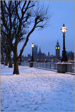 Gallery print  South Bank in winter - Stuart Black