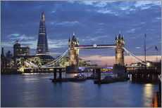 Gallery print  The Shard and Tower Bridge at night - Stuart Black