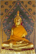Wall sticker  Gold Buddha statue in Wat Arun (The Temple of Dawn), Bangkok, Thailand, Southeast Asia, Asia - Stuart Black
