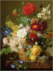 Wall sticker  Flower Still Life on a marble ledge - Jan Frans van Dael