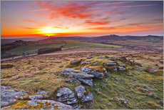 Gallery print  Dawn in Dartmoor National Park - Julian Elliott