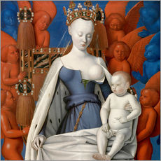 Wall Stickers  Virgin and Child Surrounded by Angels - Jean Fouquet