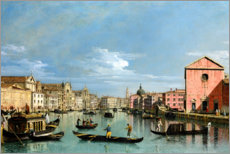 Premium poster Venice, the grand canal facing santa croce