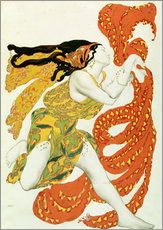 Wall sticker  Costume design for a bacchante in 'Narcisse' by Tcherepnin - Leon Nikolajewitsch Bakst
