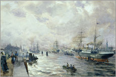 Wall sticker  Sailing Ships in the Port of Hamburg - Carl Rodeck