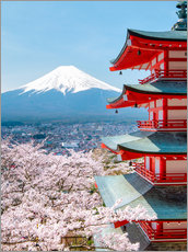 Gallery print  Chureito Pagoda with Fuji and cherry blossoms - Jan Christopher Becke