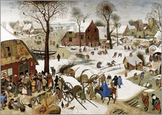 Wall sticker  Census at Bethlehem - Pieter Brueghel d.Ä.