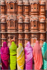 Gallery print  Women in front of the Hawa Mahal - Gavin Hellier