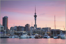 Wall sticker  Viaduct Harbour and Sky Tower, Auckland - Ian Trower
