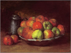 Wall Stickers  Still Life with Apples and a Pomegranate - Gustave Courbet