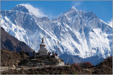 Wall sticker  Tenzing Norgye Stupa & Mount Everest - John Woodworth