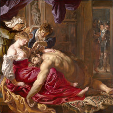 Premium poster  Samson and Delilah - Peter Paul Rubens