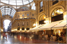 Gallery print  Restaurant, Galleria Vittorio Emanuele, Milan, Lombardy, Italy, Europe - Vincenzo Lombardo