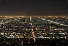 Gallery print  Los Angeles at night - Wendy Connett