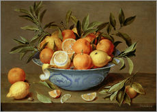 Gallery print  Still Life with Oranges and Lemons - Jacob van Hulsdonck