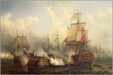 Gallery print  The Redoutable at Trafalgar - Auguste Etienne Francois Mayer