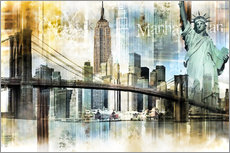 Wall sticker  New York Skyline I - Städtecollagen