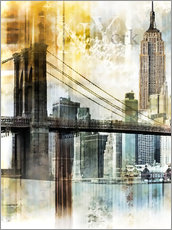 Wall Stickers  Skyline New York Fraktal II - Städtecollagen