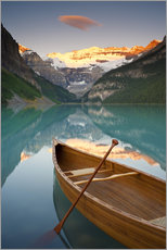Wall sticker  Canoe on Lake Louise at sunrise - Miles Ertman