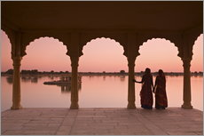 Gallery Print  Indian Women, Jaisalmer - Douglas Pearson