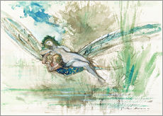 Wall sticker  Dragonfly - Gustave Moreau