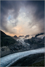 Gallery print  Sunset view from Chamanna Boval, Pontresina, Engadin, Switzerland - Peter Wey