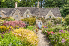 Gallery print  Romantic Cottage garden in the Cotswolds (England) - Christian Müringer