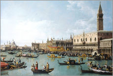 Gallery Print  The harbor of San Marco on Ascension Day - Bernardo Bellotto (Canaletto)