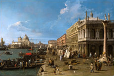 Foam board print  The jetty with the library - Antonio Canaletto