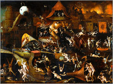 Gallery print  The harrowing of hell - Hieronymus Bosch