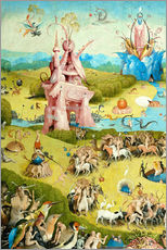 Gallery print  Garden of Earthly Delights, mankind before the Flood (detail) - Hieronymus Bosch
