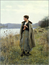 Wall sticker  The Shepherdess of Rolleboise - Daniel Ridgway Knight