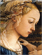 Wall Stickers  Madonna and Child with Two Angels (detail face) - Fra Filippo Lippi