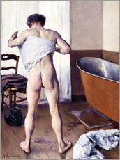 Gallery Print  Man in the bathroom - Gustave Caillebotte