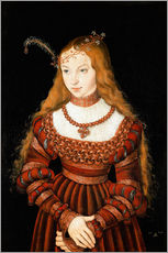 Wall sticker  Princess Sibylle of Cleve - Lucas Cranach d.Ä.