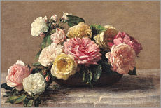 Wall sticker  Roses in a Dish - Henri Fantin-Latour