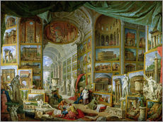 Gallery print  Gallery of Views of Ancient Rome - Giovanni Paolo Pannini