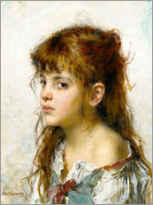 Wall sticker  Portrait of a young Girl - Alexei Alexevich Harlamoff