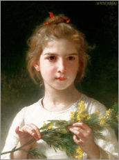 Wall sticker  The flowering mimosa - William Adolphe Bouguereau