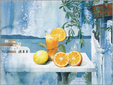 Wall sticker  Glass with oranges - Franz Heigl